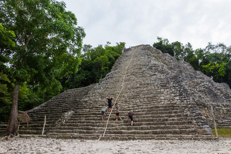 The great Mayan pyramid of Cobá is one of the few where it is still allowed to climb. Yucatán, Mexico, July 2014.