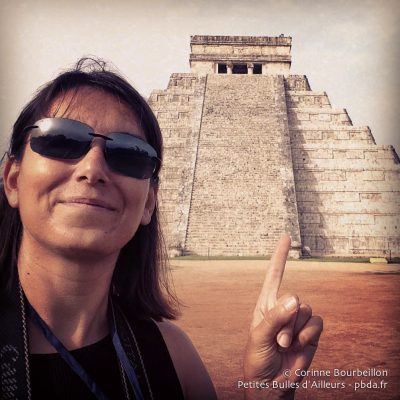 The girl who wanted to see the Mayan pyramids saw them ... Chichen Itza, Yucatan, Mexico, July 2014.