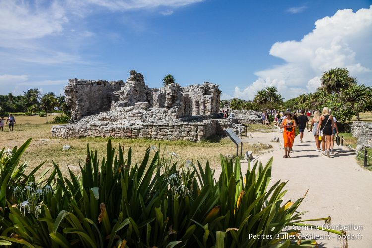The Mayan site of Tulum is very busy. Quintana Roo, Mexico, July 2014.