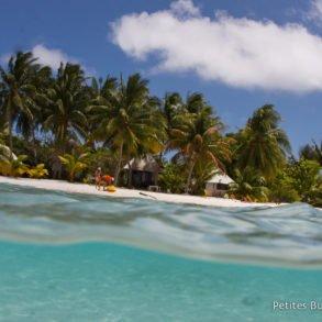 La plage du motu Auira, à Maupiti. Un petit coin de paradis ! Polynésie, octobre 2012.