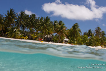 The beach of the Auira motu, in Maupiti. A little corner of paradise ! Polynesia, October 2012.