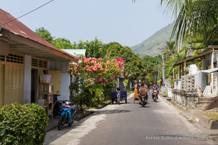 Quiet streets and flowers. Banda Neira, Maluku, Indonesia, October 2015.