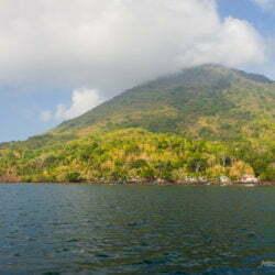 Banda Api, the island-volcano of the archipelago. Maluku, Indonesia, October 2015.