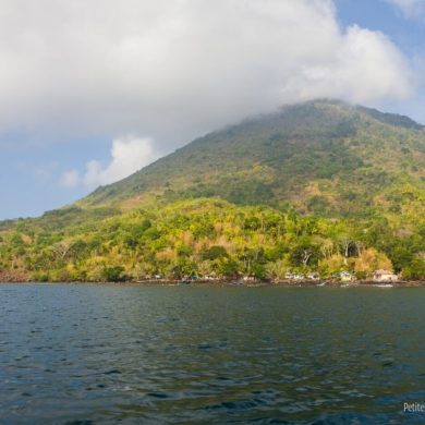 Banda Api, the island-volcano of the archipelago. Maluku, Indonesia, October 2015.