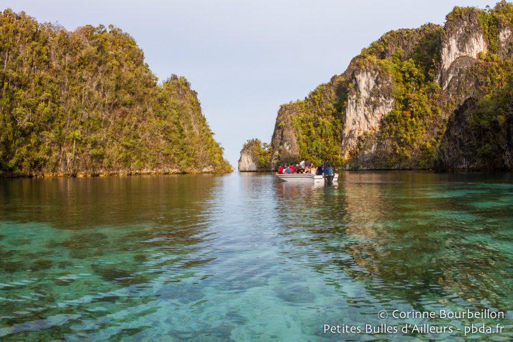 Sympa, la balade au milieu des îlots ! (Misool Sud, Raja Ampat, Papouasie occidentale, Indonésie, novembre 2015.)