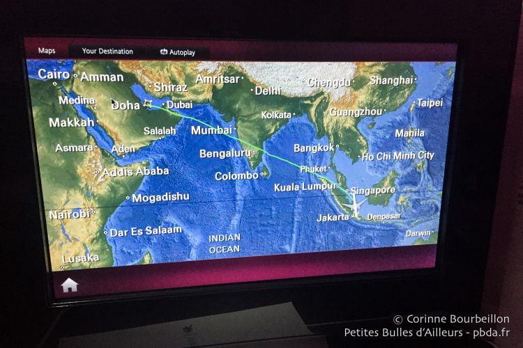 Doha-Jakarta : huit heures de vol environ...