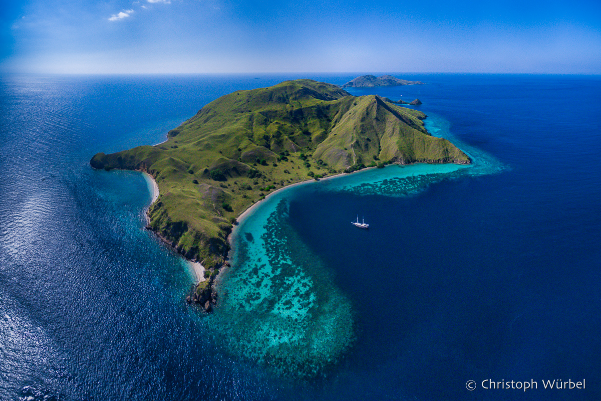 Gili Lawa Darat seen from the drone. (Komodo, Indonesia, July 2016)