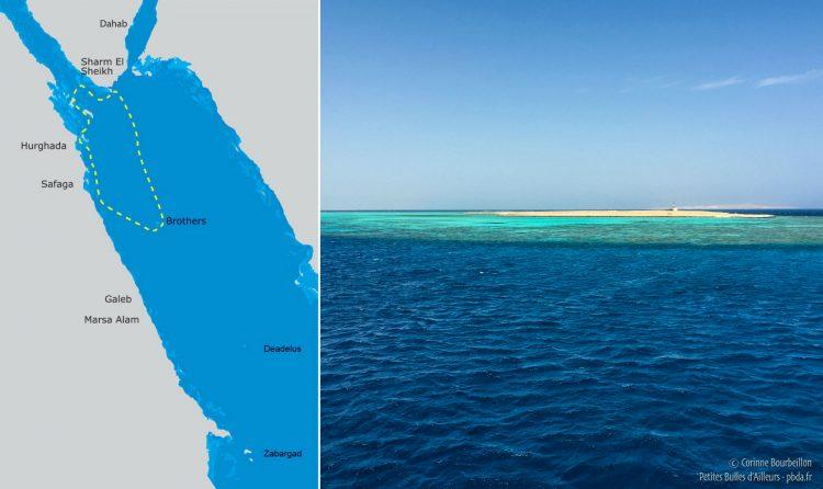 La croisière dure six jours et nous emmène sur des sites de plongée renommés en Mer Rouge : Hurghada, Ras Mohammed, Brothers, Safaga... (Égypte, octobre 2016)