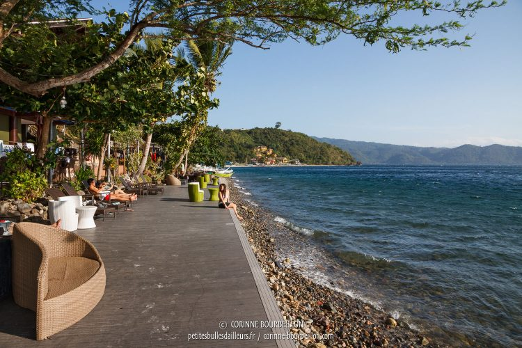 The terrace of the Planet Dive center, in Anilao. (Philippines, March 2017)
