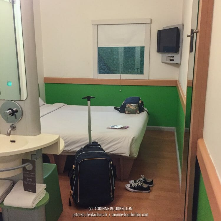 The room at Ibis Budget Makassar Airport. (Sulawesi, Indonesia, July 2017)