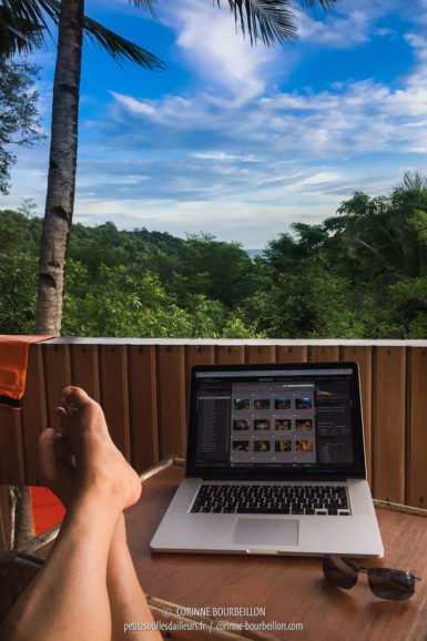 Nice, my blogger's office! (Lembeh, Sulawesi, July 2017)