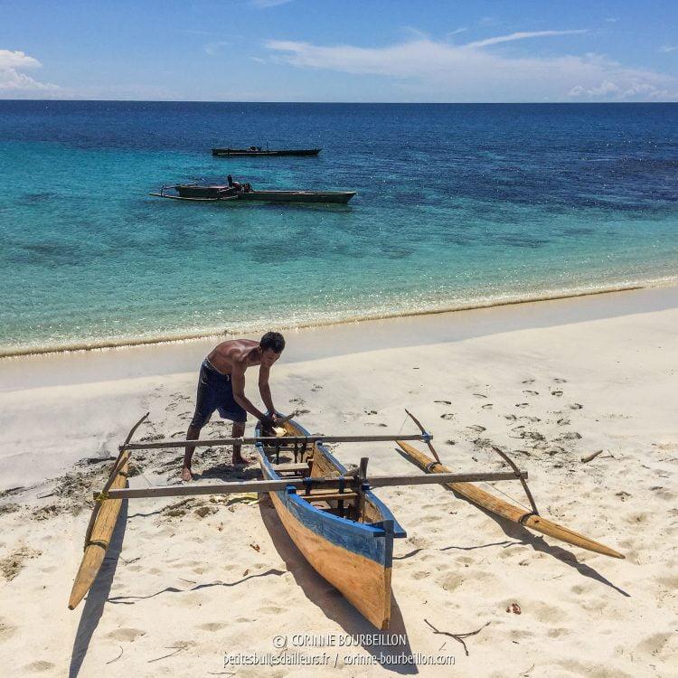 L'un des pêcheurs rencontrés à Ondoliang Beach. (Centre-Sulawesi, Indonésie, juillet 2017)