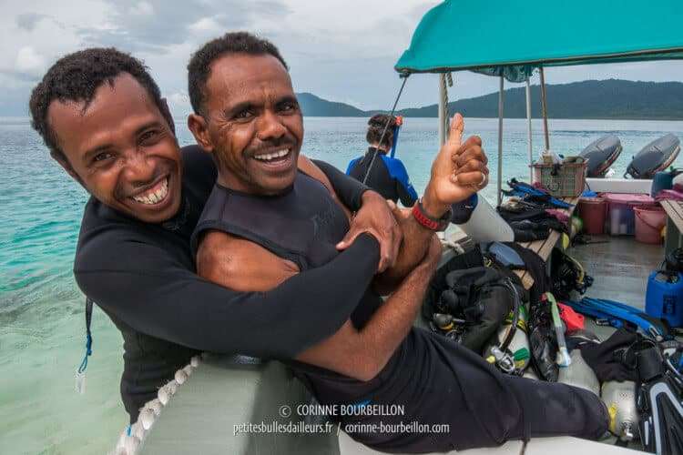 Diving guides in gold. (Raja Ampat, July 2012)