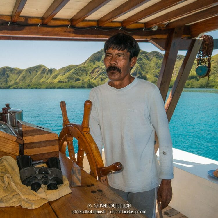 The most beautiful mustache of Komodo is our captain! (Duyung Baru, Indonesia, July 2016)