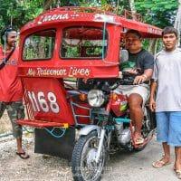 L'anglais, c'est pratique pour discuter avec son chauffeur de tricycle ! (Philippines, Siquijor, février 2008)