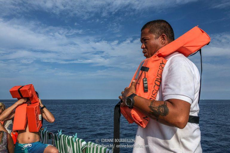 Petit briefing de sécurité avant le départ. (Tubbataha, Philippines, mai 2018)