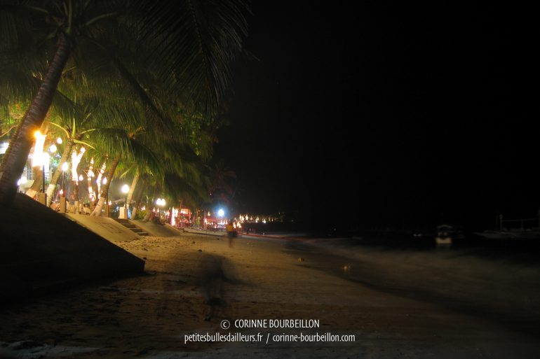 At night and day, do not expect tranquility on the beautiful Alona Beach. (Panglao, Visayas, Philippines, February 2008)
