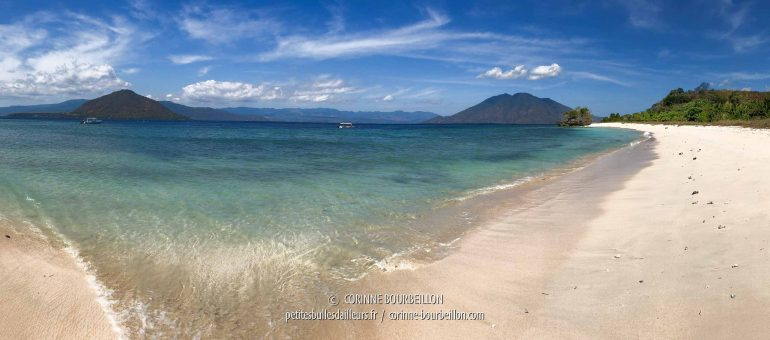 Panoramic view of Alor Divers beach, on the island of Pantar. (Alor, Indonesia, July 2018)