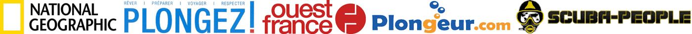 Les médias dans lesquels j'ai publié des reportages, des articles, des photos sur la plongée sous-marine : National Geographic, Plongez ! Magazine, Ouest-France, Plongeur.com, Scuba-People Le Mag...