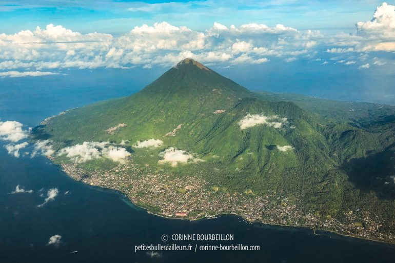 Pulau Tidore, another impressive island-volcano, neighbor of Ternate. (North Maluku, Indonesia, July 2018)