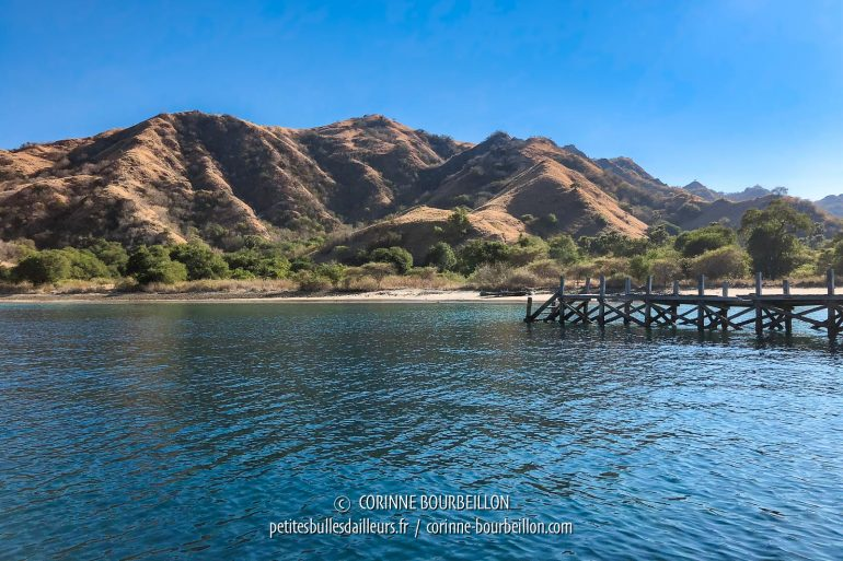 The pontoon of Komodo Island, Loh Wenci. That day, we are the only visitors. (Indonesia, July 2018)