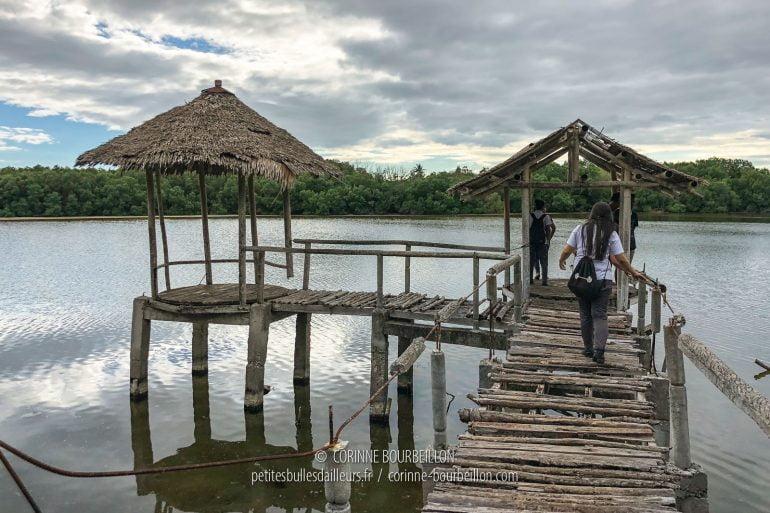 Le ponton sur le lac est plus que branlant... (Cabilao, Philippines, février 2019)