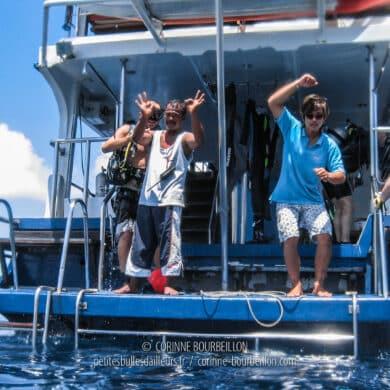 Tout va bien ! Retour au Sea of Fantasy, le bateau d'Eden Divers. (Similan Islands, Thaïlande, février 2009)