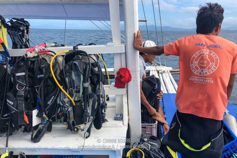 My diving equipment is ready... I can't wait to get in the water! (Sogod Bay, Leyte, Philippines, March 2020)