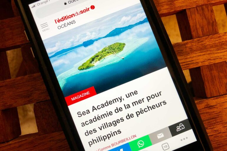 My article on the Sea Academy project published in September 2021 in the evening edition of Ouest-France.